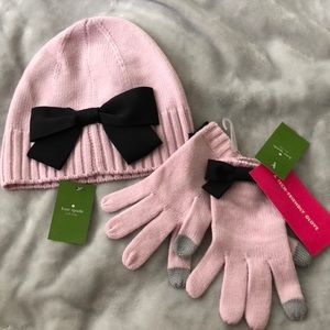 Bundle: Kate Spade Beanie and Touch Tech Gloves